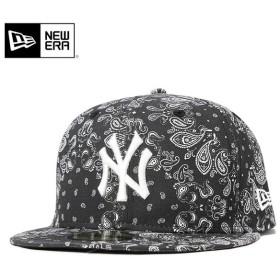ニューエラ キャップ 帽子 NEW ERA 59FIFTY 60/40クロス ペイズリー MLB ブラック メンズ レディース