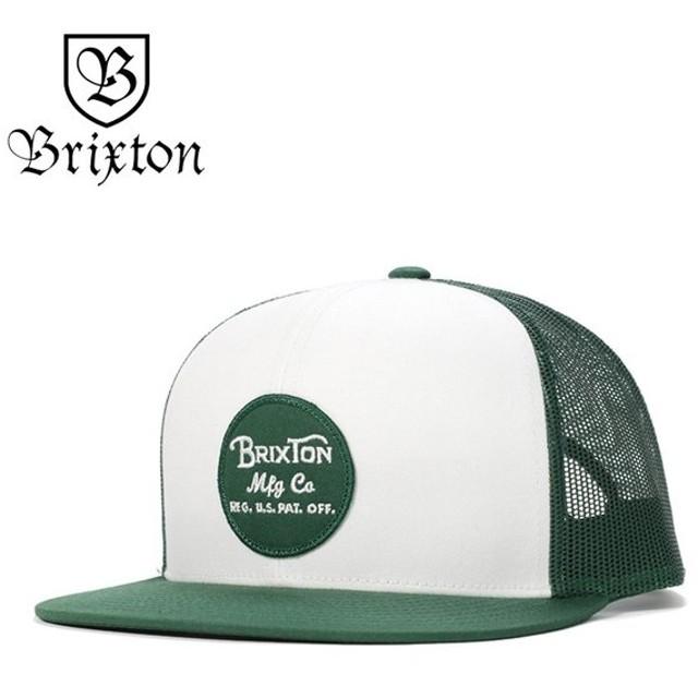 ブリクストン メッシュキャップ 帽子 WHEELER ホワイト/リーフ BRIXTON メンズ