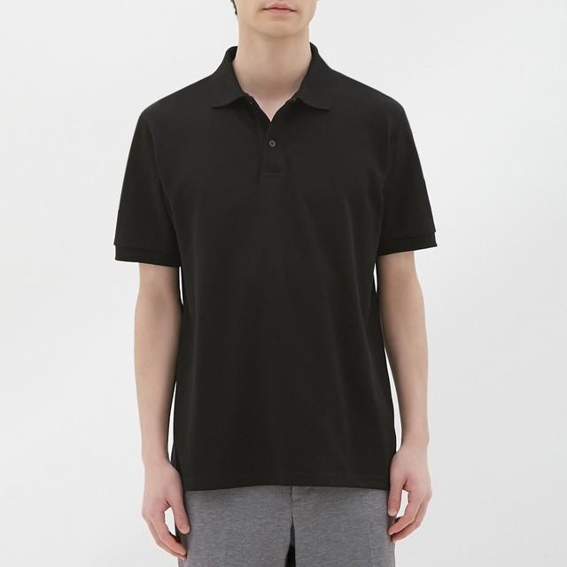 (GU)GUドライポロシャツ(半袖)CL BLACK L
