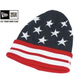 ニューエラ NEW ERA アウトドア ニット帽 ニットキャップ アウトラスト USフラッグ ネイビー 帽子 [返品・交換対象外]