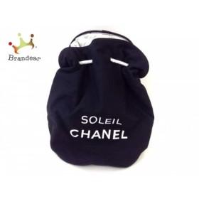 a634d5a40bc3 シャネル ワンショルダーバッグ - 黒×白 SOLEIL CHANEL/巾着バッグ/ノベルティ キャンバス