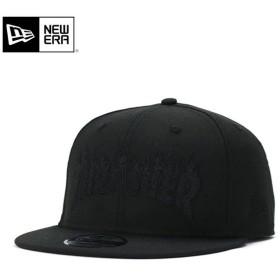 ニューエラ スラッシャー コラボ キャップ 帽子 スナップバック 9FIFTY FIRE LOGO OUTLINE ブラック NEW ERA THRASHER メンズ