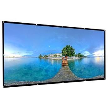 プロジェクタースクリーン 120インチ 16:9 HD 折り畳み 壁掛け 吊り下げ式 携帯式 ホームシアター プレゼンテーション スクリー ...