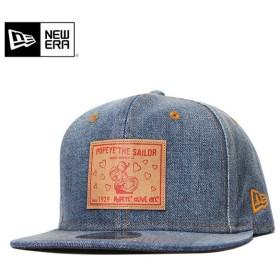 ニューエラ ポパイ コラボ キャップ 帽子 NEW ERA 9FIFTY ウォッシュドデニム メンズ