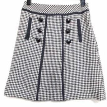 ジャスグリッティー JUSGLITTY スカート サイズ2 M レディース 美品 白×黒 千鳥格子【中古】