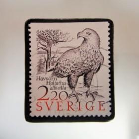 スウェーデン 切手ブローチ4975