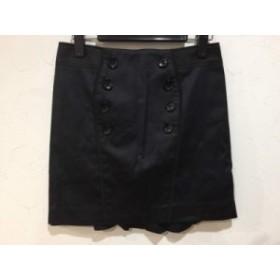 ピンキー&ダイアン Pinky&Dianne ミニスカート サイズ36 S レディース 美品 黒 裾フリル【中古】