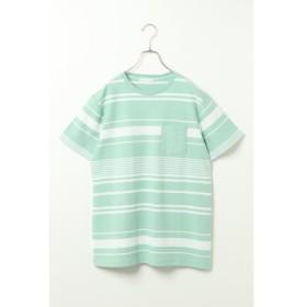 [マルイ] 梨地ボーダーTシャツ/イッカ メンズ(ikka)