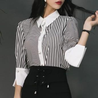 2019レディースpoloフェミニン ビジネスシーンタイトシルエットシャツ