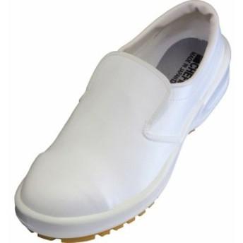 弘進ゴム 日本製食品厨房靴シェフメイトグラスパーガード CG-502S 白 26cm