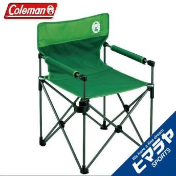 コールマン アウトドアチェア カップホルダー付きスリムチェア グリーン 2000010512 Coleman