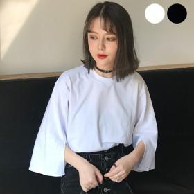 カットソー - DearHeart ★トレンドファッション♪袖スリット入りカットソー★春夏新作 韓国ファッション