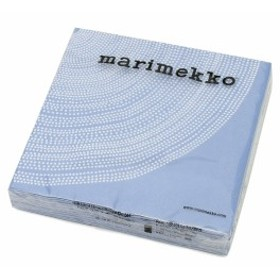マリメッコ ペーパーナプキン フォクス ブルー 33x33cm 20枚入り marimekko FOKUS