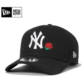 ニューエラ スナップバックキャップ 9FORTY Aフレーム ローズ MLB ニューヨークヤンキース ブラック NEW ERA