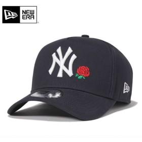 ニューエラ スナップバックキャップ 9FORTY Aフレーム ローズ MLB ニューヨークヤンキース ネイビー NEW ERA