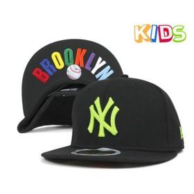 ニューエラ キッズ キャップ ニューヨーク ヤンキース ブラック 帽子