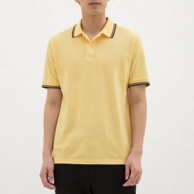 (GU)GUドライポロシャツ(半袖)(ライン)CL YELLOW XL