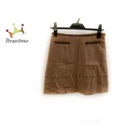ジャスグリッティー ミニスカート サイズ0 XS レディース 美品 ブラウン×ダークブラウン   スペシャル特価 20190622