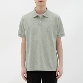 (GU)GUドライポロシャツ(半袖)CL GRAY XL