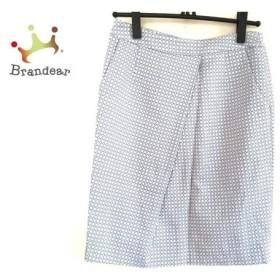 インコテックス INCOTEX スカート レディース 美品 ライトグレー×白×ブルー     スペシャル特価 20191031