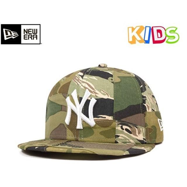 ae2ac2dcb8090 NEW ERA KIDS(ニューエラ キッズ) キャップ ニューヨークヤンキース カモパッチワーク 帽子