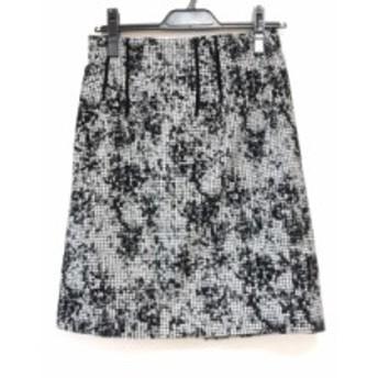 ジャスグリッティー JUSGLITTY スカート サイズ2 M レディース 黒×白 千鳥格子【中古】