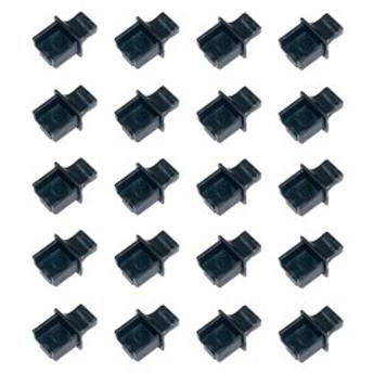 RJ45 LANポートコネクタ防塵保護カバー・キャップ(20個)つまみ付ハードタイプ MF-RJ45PB-T20B 送料無料