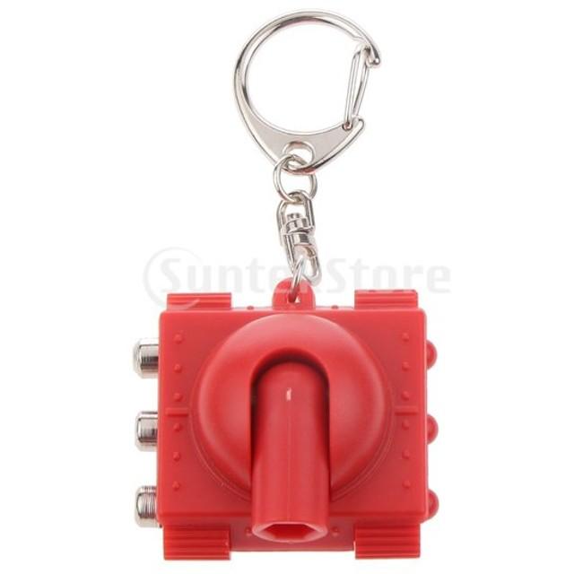 SONONIA タンク ペンダント キーチェーン マイナスドライバーとツール 多機能 実用 装飾 赤