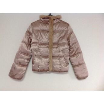 【中古】 アンドバイピンキー&ダイアン ダウンジャケット サイズ38 M レディース 美品 ピンクベージュ