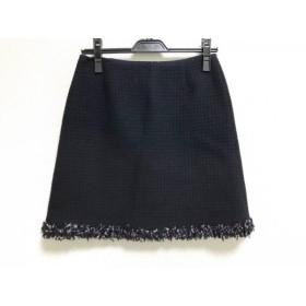 【中古】 トゥモローランド スカート サイズ36 S レディース 黒 ライトブルー マルチ ニット