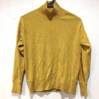 【中古】ニジュウサンク 23区 長袖セーター サイズ38 M レディース イエロー タートルネック