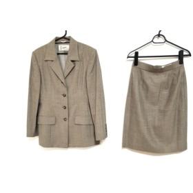 【中古】 スキャパ Scapa スカートスーツ サイズ38 L レディース ベージュ パンツ付3点セット