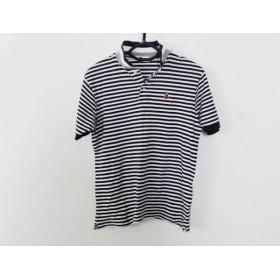 【中古】 ア ベイシング エイプ A BATHING APE 半袖ポロシャツ サイズS S メンズ 白 黒 ボーダー
