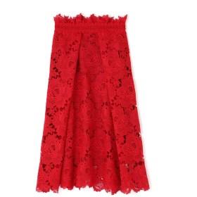 アドーア ADORE [一部店舗限定]ローズレーススカート レッド 36【税込10,800円以上購入で送料無料】