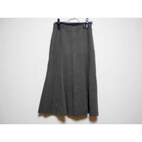 【中古】 レリアン Leilian スカート サイズ9 M レディース ブラウン