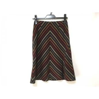 【中古】 ソニアリキエル SONIARYKIEL スカート サイズ30 XS レディース 黒 レッド マルチ