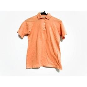 【中古】 マンシングウェア Munsingwear 半袖ポロシャツ サイズ2 S レディース オレンジ
