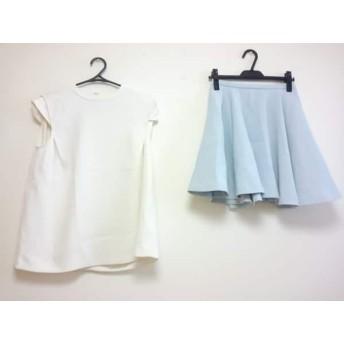 【中古】 イエナ スローブ IENA SLOBE スカートセットアップ レディース 白 BLEU