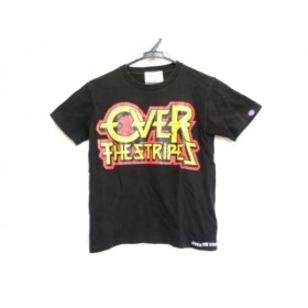 【中古】 オーバーザストライプス 半袖Tシャツ サイズXS レディース 黒 レッド イエロー