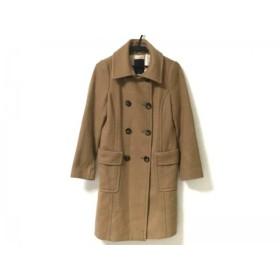 【中古】 クローラ CROLLA コート サイズ38 M レディース ライトブラウン 冬物 毛ナイロンポリエステル