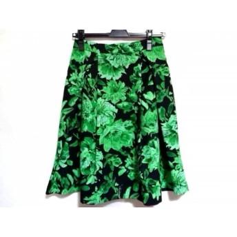 【中古】 フレイアイディー FRAY I.D スカート サイズ1 S レディース 黒 グリーン 花柄