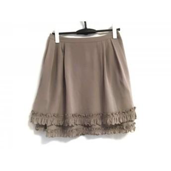 【中古】 フォクシーニューヨーク FOXEY NEW YORK スカート サイズ40 M レディース ベージュ フリル