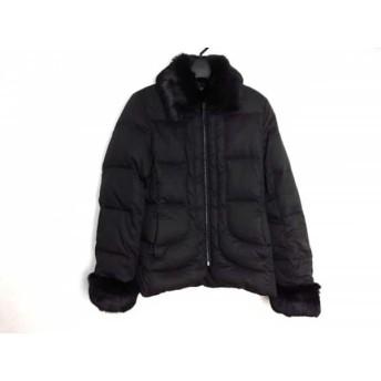 【中古】 ニジュウサンク 23区 ダウンジャケット サイズ38 M レディース 美品 黒 冬物