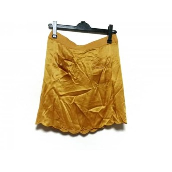 【中古】 シーバイクロエ SEE BY CHLOE ミニスカート サイズ40 M レディース オレンジ シルク