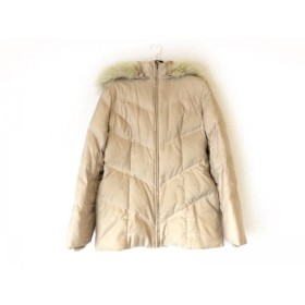 【中古】 インディビ INDIVI ダウンジャケット サイズ38 M レディース ベージュ ファー/冬物