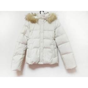 【中古】 エムプルミエ M-PREMIER ダウンジャケット サイズ34 S レディース アイボリー 冬物