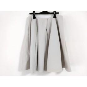 【中古】 アドーア ADORE スカート サイズ38 M レディース ベージュ プリーツ