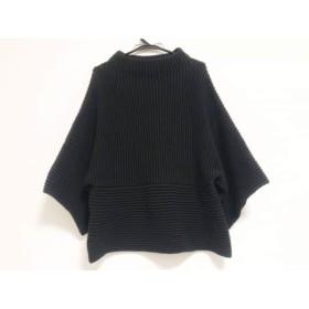 【中古】 トゥービーシック TO BE CHIC 長袖セーター サイズ5 XS レディース 黒 ドルマンスリーブ