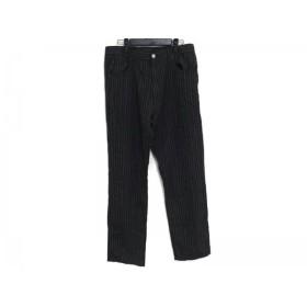 【中古】 ポールスミスジーンズ PaulSmithJEANS パンツ サイズ34 S メンズ 黒 ベージュ ストライプ