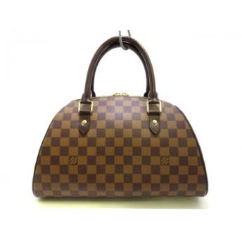 【中古】ルイヴィトン LOUIS VUITTON ハンドバッグ ダミエ リベラMM N41434 エベヌ ダミエ・キャンバス